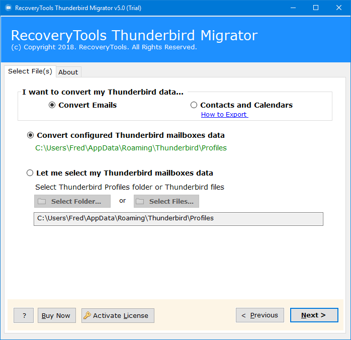 Thunderbird to Gmail Migration - Export Mail From