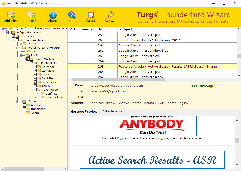 Thunderbird file preview