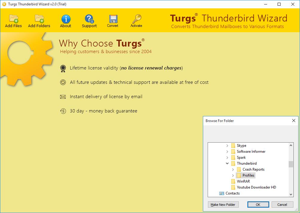 thunderbird windows 10 profil importieren